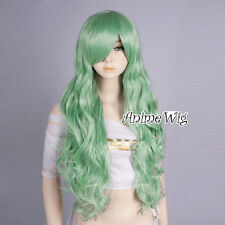 Curly Basic Women Girl Green 80CM Long Anime Cosplay Heat Resistant Full Wig
