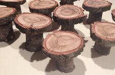 "6 Cupcake Stands Wood Slice Live Edge Slices 3-4"" Cake Pastry Stands"