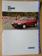 FIAT UNO START PLUS Special Edition orig 1994 UK Mkt sales brochure