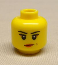 x1 NEW Lego Minifig Head Girl Female Dual Sided  w/ Determined / Angry Pattern