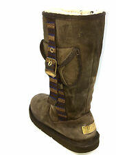 Ugg Retro Cargo Pocket Boots Espresso Brown S/N 1895 Size 5 USA