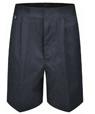 Sturdy Fit Plus Fit Boys Mens School Shorts Elasticated Waist Black Grey Navy
