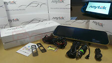 Anytek Rearview Mirror Dual Dashcam DVR Car Cam