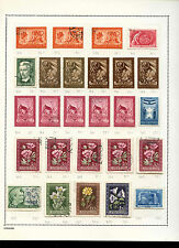 Hungary 1950-1951 Album Page Of Stamps #V3596