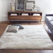Soft Sheep Skin 3' x 5' Faux Shag Area Rug White Accent Carpet Mat Floor Decor