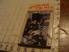 CEAN & TIGHT Paperback book: SHERLOCK HOLMES murder at teh diogenes club 1987