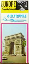 1960 Air France Cook's Tours vintage travel brochure Arc de Triomphe Cover b