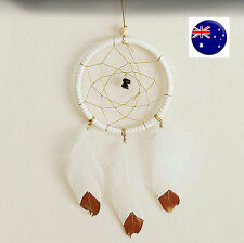 WHITE Dream Catcher Net Web Feather Hanging Craft Gift Her Car Decoration Decor