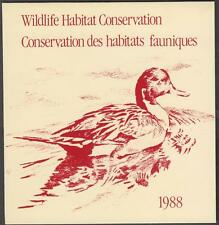 Canada Wildlife Conservation Duck stamp booklet #FWH4 MNH 1988 cv $15