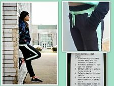 NWT Lululemon Size 8 Run Bandit Track Pant Black and Mint Green