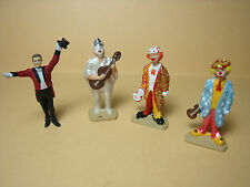4  FIGURINES  1/43  SET 181  CIRQUE  PINDER   LES  CLOWNS   VROOM  A  PEINDRE