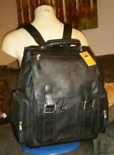 NWT LATICO COLOMBIAN LEATHER BLACK BIG BACKPACK UNISEX MOTORCYCLE BOOK BAG MOTO