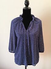 French Connection FCUK Purple 3/4 Sleeve Blouse Size Medium