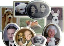 Oval Round Ceramic Memorial Photo-Plaque 100mm LIFETIME GUARANTEE 004