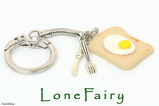 Polymer Clay Egg On Toast Keyring Food & Drink Chef Cook Kitcsh Key Chain