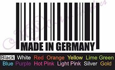 **MADE IN GERMANY BARCODE** Car Decal, Vinyl, Drift Sticker, Funny, EURO, DUB