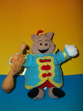 The Disney Store Silly Symphony Band Trumpet Player Pig Plush Toy GUC