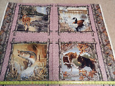 REALTREE Ladies Pink Bass Duck Bear Deer Goose Panel 9957 Print Concepts Fabric