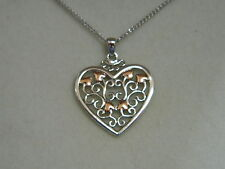 Clogau Silver & 9ct Rose Welsh Gold Kensington Pendant RRP £119.00