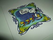 THE GRATEFUL DEAD SNOOPY AND WOODSTOCK BE KIND STICKER
