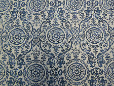Thibaut Curtain Fabric 'Sansome' 2.2 METRES  Navy Linen Mix ~ Richmond Col