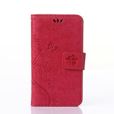 Magnetic PU Leather Case Flip Stand Wallet Card Cover For Samsung Galaxy Phone