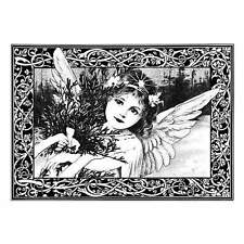 Crafty Individuals 'AN ADORABLE CHRISTMAS ANGEL' Rubber Stamp CI-211
