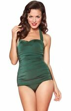 Esther Williams Pin Up One Piece Swimsuit in Emerald Green Size 12 Made in USA