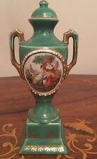"""ATQ Vintage Art Deco Stile Impero Ware Verde c1930 Inghilterra Urna Vaso 7"""""""