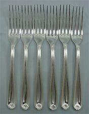 Christofle,  Marot (Berain) 6 fourchettes de table,20,5 cm, métal argenté 2/2.