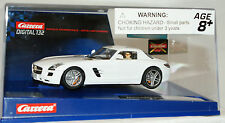 NOS CARRERA #30542 Mercedes SLS AMG Coupe Digital 1/32 scale slot car white