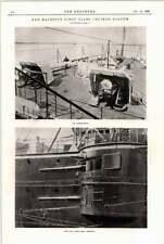 1898 Her Majesty's First-class Cruiser Diadem Casemate Quarterdeck