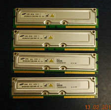 SAMSUNG 64MB / 4 PC800-45 RDRAM MR16R0824AN1-CK8IN Modules Matched Set of 4