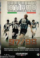 DVD=CAMPIONATO IO TI AMO=1997/98=CON INCLUSO FASCICOLO ALMANACCO DEL CALCIO