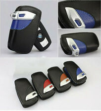 Leather Smart Key Remote Cover Bag Holder Fit For BMW Series 1 3 5 6 7 X1 X5 X6