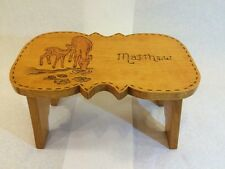 Personalized Matthew Wooden Wood Burning Art Step Stool Bench Children Kids