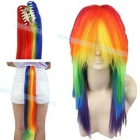 Anime My Little Cosplay Pony Rainbow Resistant Tail Wig Stylish Dash Heat