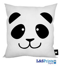 "CARTOON PANDA FACE DESIGN LUXURY CUSHION HOME DECOR 18"" X 18"" IDEAL GIFT"