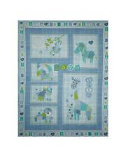 "COT QUILT PATCHWORK ANIMALS Fabric Cotton Craft Quilting Panel Nursery 35"" x 44"""