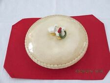 Vintage Ceramic Pie Keeper Dish/With Lid/ Christmas Geese As Handle