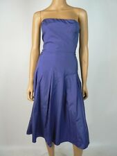 BCBG MaxAzria Ultramarine Blue Pleated Taffeta Strapless Dress 10 NWT B585