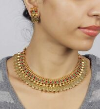 2026 Indian Bollywood Style Fashion Gold Plated Bridal Jewelry Necklace Set