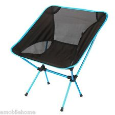 Portable Folding Chair Beach Seat Seat for Hiking Fishing Picnic Barbecue Azure