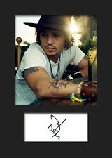 JOHNNY DEPP A5 Signed Mounted Photo Print - FREE DELIVERY