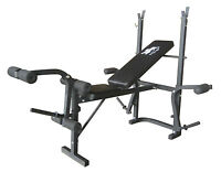 F4H Foldable Weights Bench Flat Incline Adjustable Chest Legs Arm Toning Station