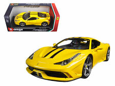 BBURAGO 1:18 FERRARI RACE & PLAY - 458 SPECIALE Diecast Model Car Yellow 16002