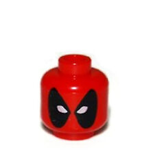 LEGO NEW ORIGINAL DEADPOOL HEAD Super Heroes Marvel 6866 Red Dead pool X-Men