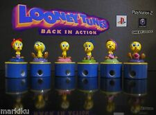 Rare Looney Tunes TWEETY pencil sharpener stampers Back in Action Play station