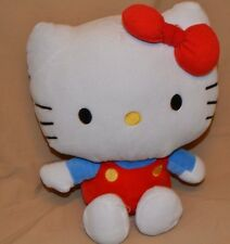 "16"" Hello Kitty Plush Dolls Toys Stuffed Animals Blue Shirt Red Overalls"