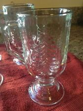 Eddie Bauer Home Holiday Tree Glass Hot Drink Mugs